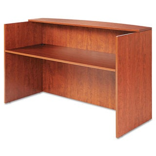 Alera Valencia Series Reception Desk with Counter, 71w x 35 1/2d x 42 1/2h