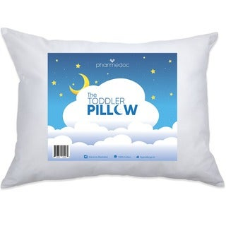 PharMeDoc Hypoallergenic, Breathable Cotton 14 x 19-inch Toddler Pillow