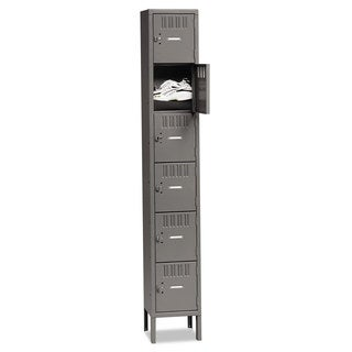 Tennsco Box Compartments with Legs, Single Stack, 12w x 18d x 78h