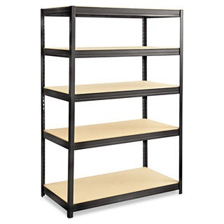 Safco Boltless Steel/Particleboard Shelving, Five-Shelf, 48w x 24d x 72h
