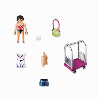 PlayMobil PM4792 Model with Clothing Rack 4792
