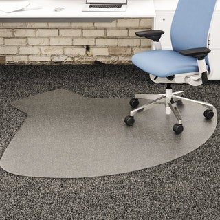 deflecto SuperMat Frequent Use Chair Mat, Medium Pile Carpet, Straight,60x66 with Lip, Clear