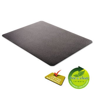 deflecto EconoMat Occasional Use Chair Mat for Low Pile, 46 x 60, Black