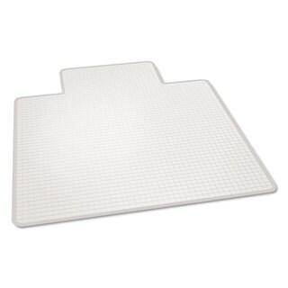 ES Robbins Crystal Pane Ergonomic Chair Mat for Medium Pile Carpet, 45 x 53, Clear