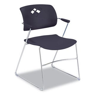 Safco Veer Series Stacking Chair With Arms, Sled Base (Set of 4)