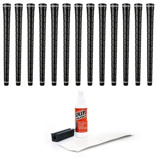 Karma Wrap Hi-Tac Standard Black 13-piece Golf Grip Kit with Tape, Solvent, and Vise Clamp