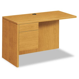 HON 10500 Series L Workstation Desk Return, 3/4 Height Left Ped, 48w x 24d