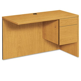 HON 10500 Series L Workstation Desk Return, 3/4 Height Right Ped, 48w x 24d