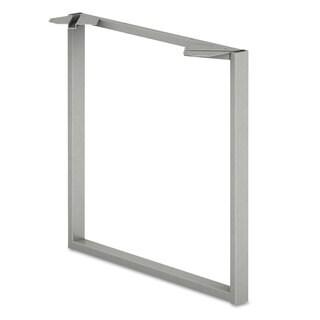 HON Voi O-Leg Support for Worksurface, 30d x 28-1/2h, Platinum Metallic