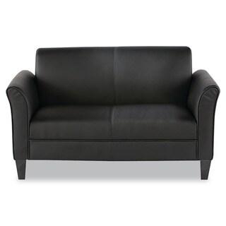 Alera Reception Lounge Furniture, 2-Cushion Loveseat, 55-1/2w x 31-1/2d x 32h, Black