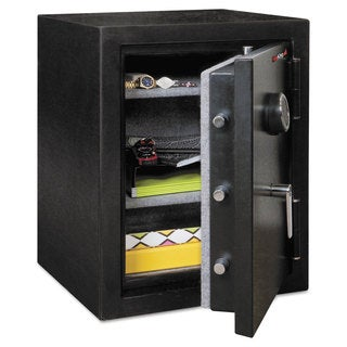 FireKing Half Hour Fire and Water Safe, 4.02 ft3, 21-3/5 x 19 x 27-1/4, Black