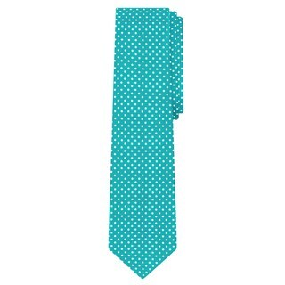Jacob Alexander Men's Polka Dot Print Microfiber Tie