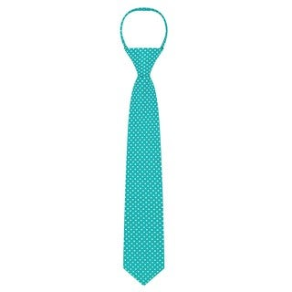 Jacob Alexander Boys Blue Satin/Microfiber Polka-dot Tie