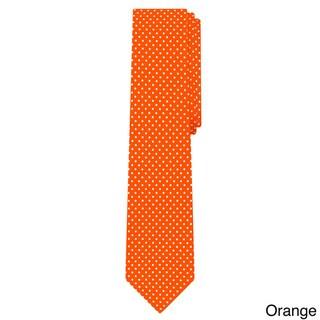 Jacob Alexander Blue Microfiber Polka-dot Print Men's Slim Tie