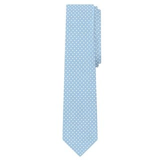 Jacob Alexander Blue Microfiber Polka-dot Print Men's Slim Tie