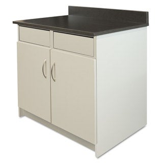 Alera Plus Hosp. Base Cabinet, 2 Door/2 Flipper Doors, 36w x 24 3/4d x 40h