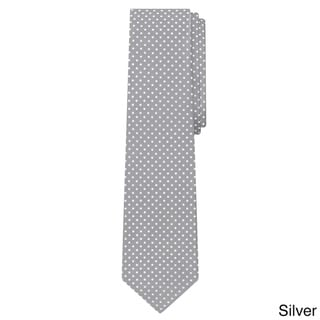 Jacob Alexander Men's Polka-dot Print Extra-long Tie