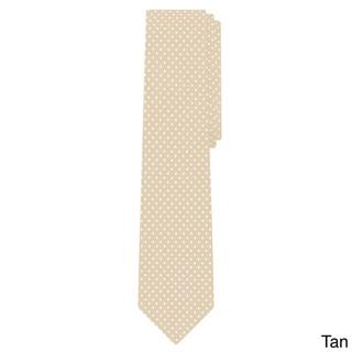 Jacob Alexander Men's Microfiber Extra Long Polka-dot Print Tie