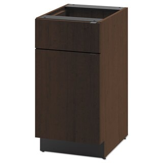 HON Hospitality Single Base Cabinet, Door/Drawer, 18w x 24d x 36h, Mocha