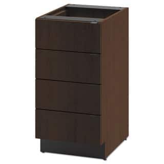 HON Hospitality Single Base Cabinet, Four Drawers, 18w x 24d x 36h, Mocha|https://ak1.ostkcdn.com/images/products/13780202/P20432332.jpg?impolicy=medium