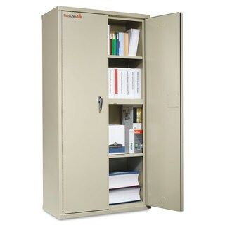 FireKing Storage Cabinet, 36w x 19-1/4d x 72h, UL Listed 350°