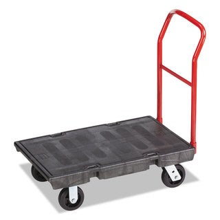 "Rubbermaid Commercial Heavy-Duty Platform Truck Cart, 500 lb Capacity, 24"" x 36"" Platform, Black"