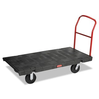 Rubbermaid Commercial Platform Truck, 2000-lb Cap, 30w x 60d x 7h, Black