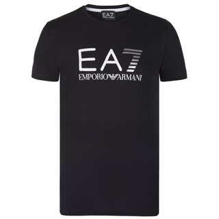 Armani Men's Black Cotton Blend T-shirt