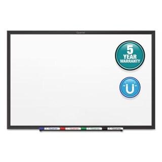 Quartet Classic Magnetic Whiteboard Black Aluminum Frame
