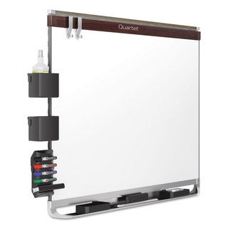 Quartet Prestige 2 Connects DuraMax Magnetic Porcelain Whiteboard Mahogany