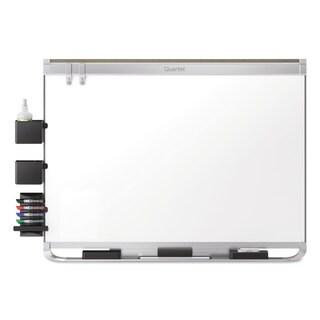 Quartet Prestige 2 Connects DuraMax Magnetic Porcelain Whiteboard Silver Frame