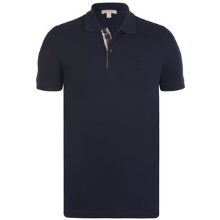 burberry coat sale outlet fdjs  Burberry Men's Navy Blue Cotton Short-sleeve Polo Shirt