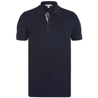 Burberry Men's Navy Blue Cotton Short-sleeve Polo Shirt