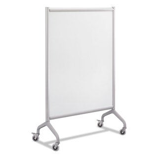 Safco Rumba Full Panel Whiteboard Collaboration Screen White/Grey