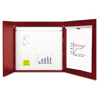 MasterVision Conference Cabinet, Porcelain Magnetic, Dry Erase, 48 x 48
