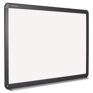 MasterVision Interactive Magnetic Dry Erase Board White/Black Frame