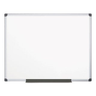 MasterVision Value Lacquered Steel Magnetic Dry Erase Board, 48 x 72, White, Aluminum Frame