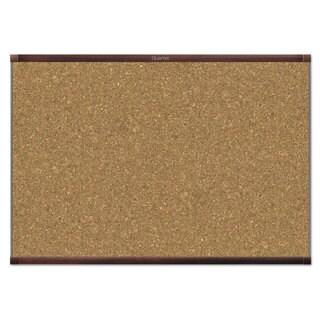 Quartet Prestige 2 Magnetic Cork Bulletin Board Mahogany Frame