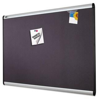 Quartet Prestige Plus Magnetic Fabric Bulletin Board, 72 x 48, Aluminum Frame