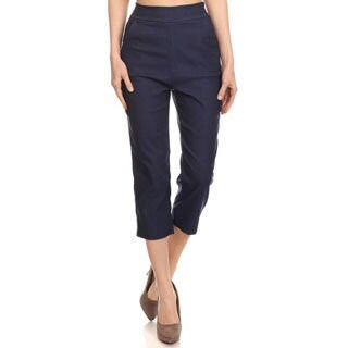 Women's Solid Twill Cropped Pants (2 options available)