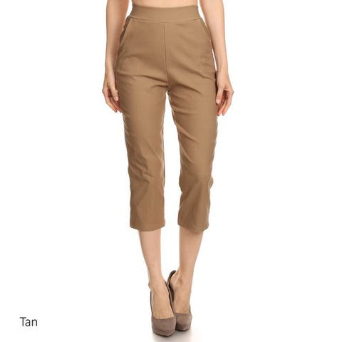 Women's Solid Twill Cropped Pants