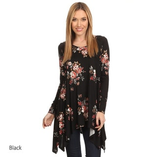 Women's Floral Rayon/Spandex Jersey Knit Tunic