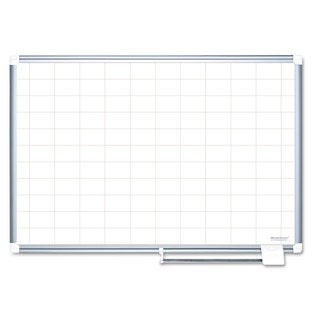 MasterVision Grid Planning Board, 2x3 Grid, 72x48, White/Silver