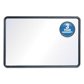 Quartet Contour Dry-Erase Board, Melamine White Surface, Black Frame