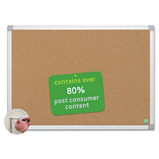 MasterVision Earth Cork Board, 48 x 72, Aluminum Frame