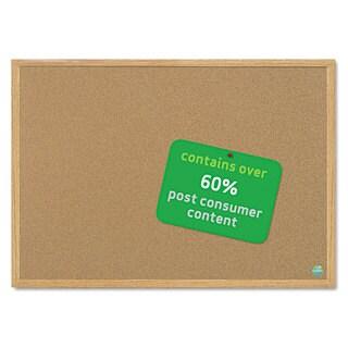 MasterVision Earth Cork Board, 48 x 72, Wood Frame
