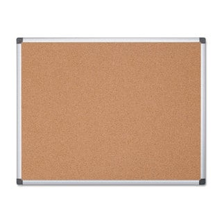 MasterVision Value Cork Bulletin Board with Aluminum Frame Natural