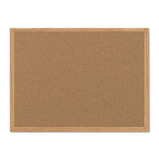 MasterVision Value Cork Bulletin Board with Oak Frame Natural