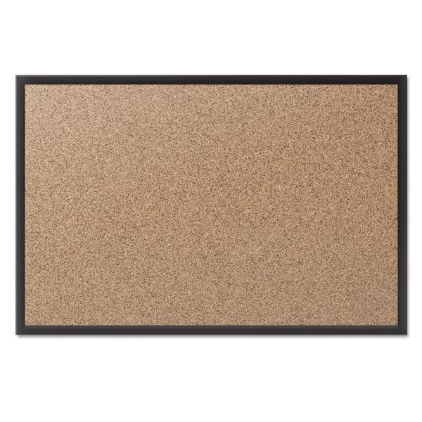 Quartet Classic Cork Bulletin Board Black Aluminum Frame