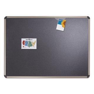 Quartet Euro-Style Bulletin Board, High-Density Foam, 72 x 48, Black/Aluminum Frame